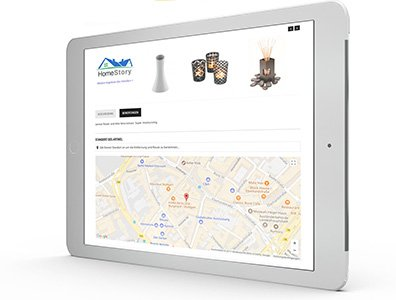 Local Commerce - Locator Modul: Produkt Lokation